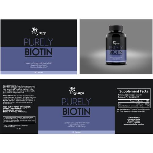 Purely Biotin label design