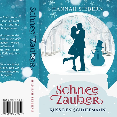 a bookcover for a winter Lovestory