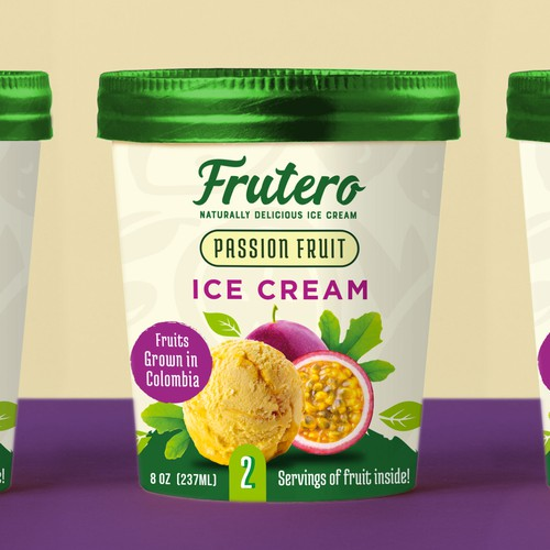 Frutero Ice Cream Label