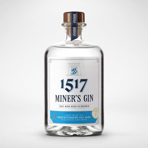 Minimalistic Gin label