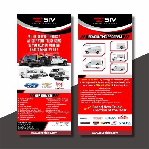 Design Post Card, Rack Card For Auto Dealer Shop