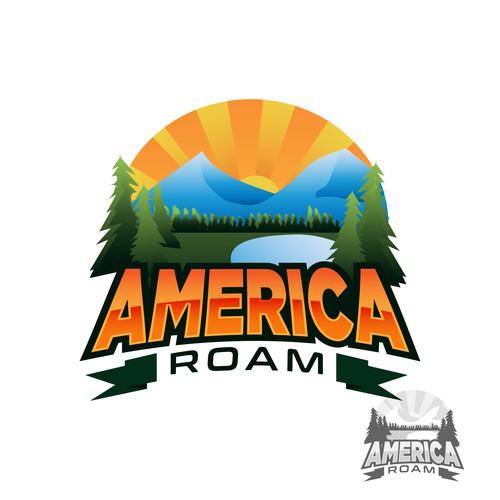 America Roam Logo Concept