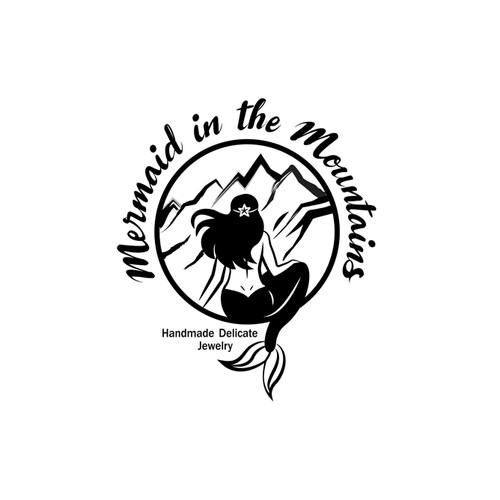Logo with a mermaid for a handmade jewelry company