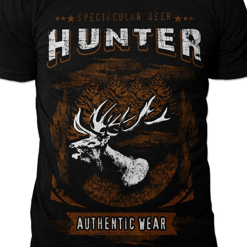 "T-Shirt: spectacular Deer ""Hunter"" ,Winner guaranteed, multiple?"