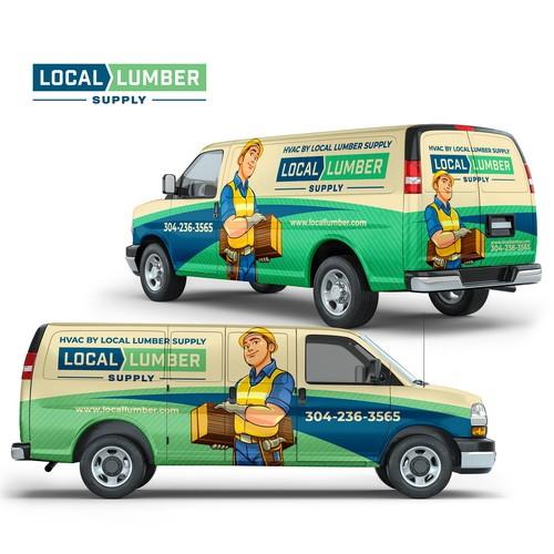 Full Wrap Design For Local Lumber Supply Company