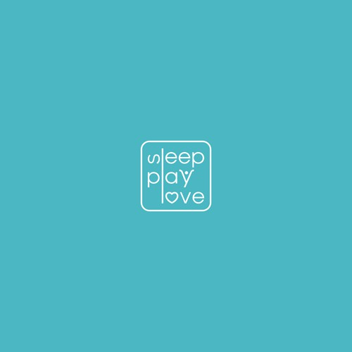 Simple typography logo for Sleep Play Love
