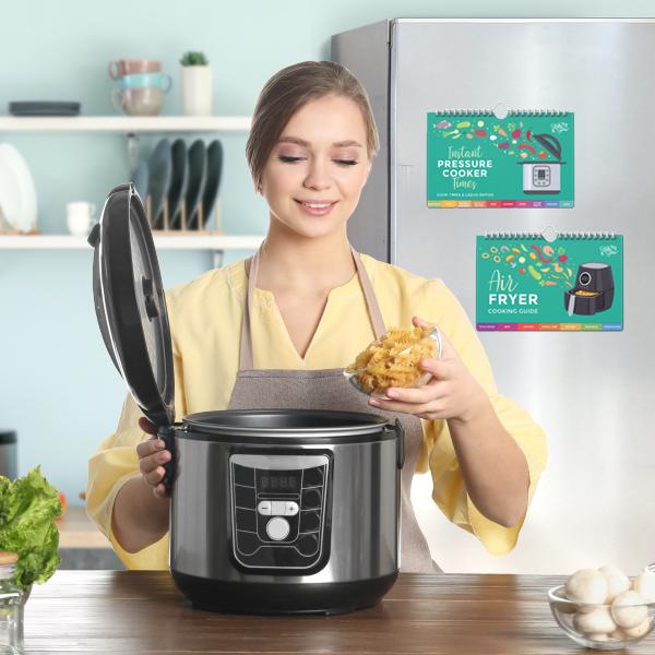 Pressure Cooker Flipchart + Air Fryer Flipchart Combo: New Packing Art + Update Insert