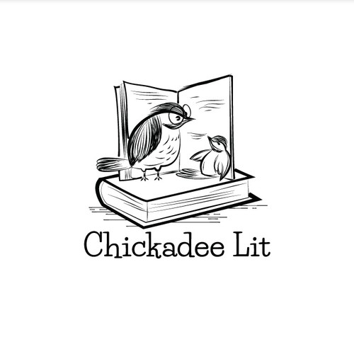Chickadees and Books Logo