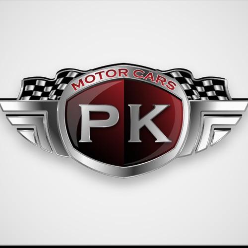 Create the next logo for PK Motor Cars