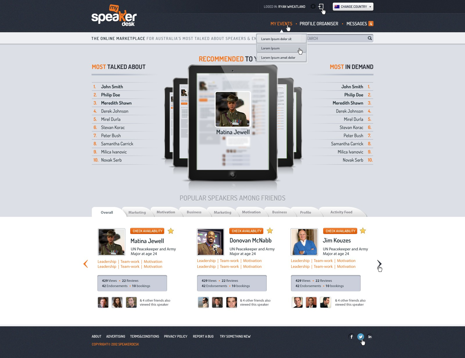 MySpeakerDesk needs a new website design