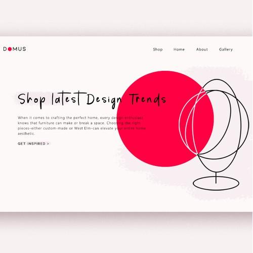 Domus furniture Landing page design