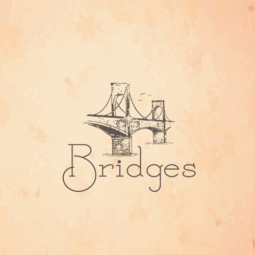 "Logo for for a non profit organization ""Bridges"""
