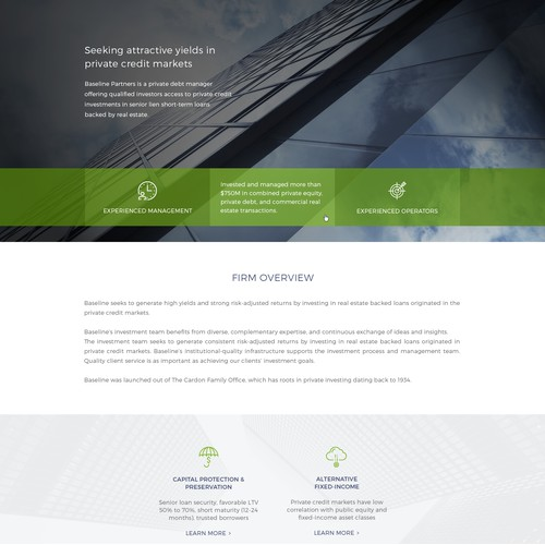 Web Redesign For Real Estate Investment Firm