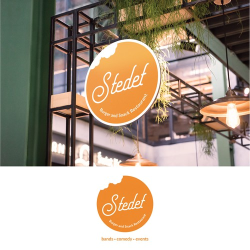 Concept logo for Stedet Burger and Snack Restaurant