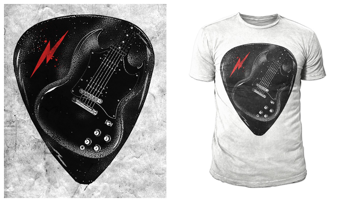 Rock theme t-shirt for Industry Label