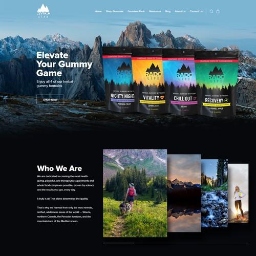 CBD Business home page design