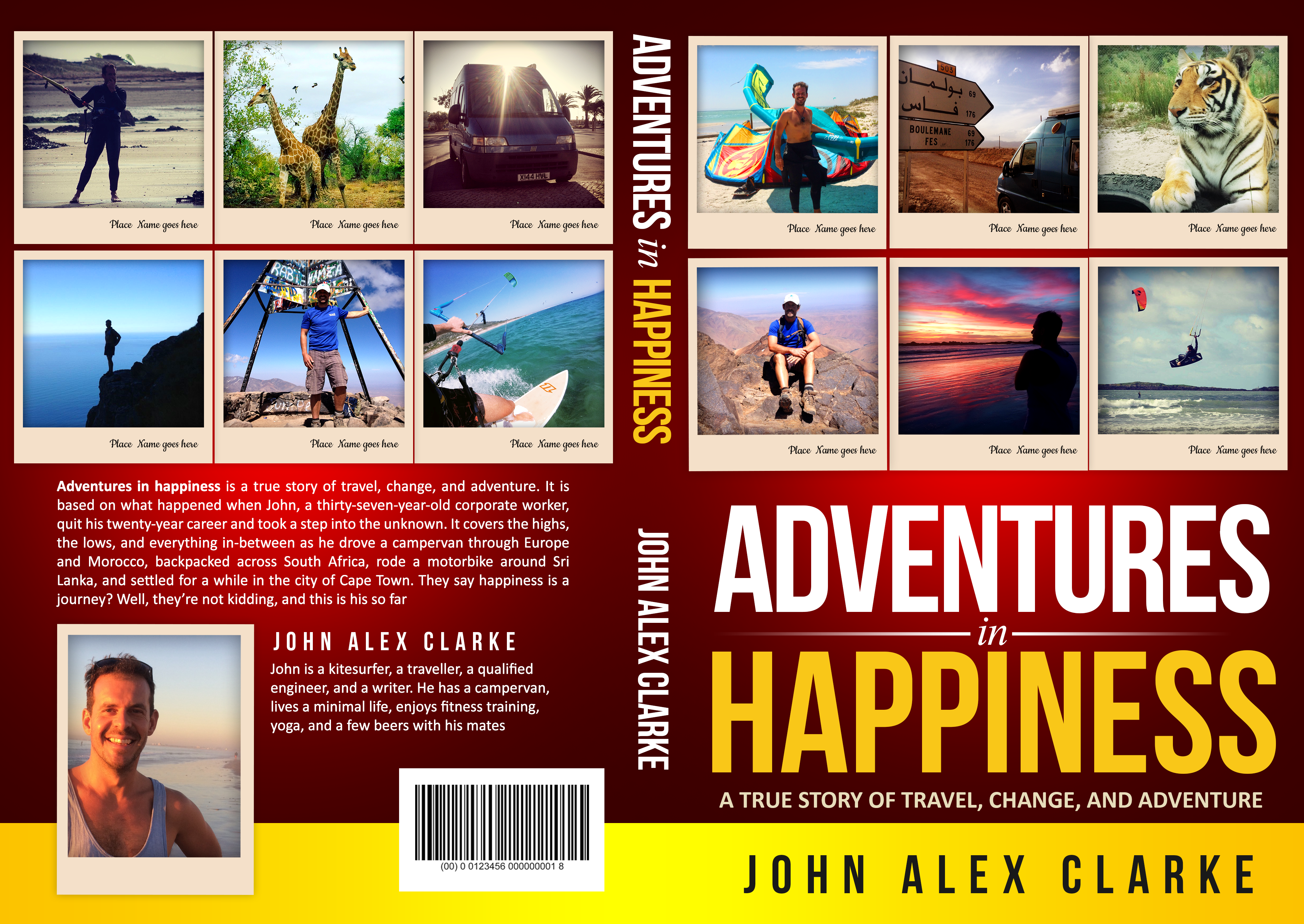 True story of change, travel, and adventure needs a confident cover.