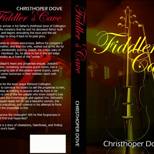 Redesign the cover of a novel that is currently available