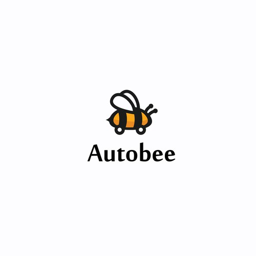 simple bee logo.