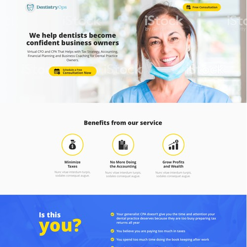 Dentistry Ops Landing Page