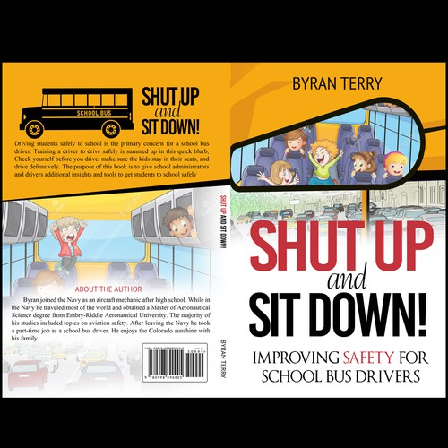 book cover for a school bus safety book