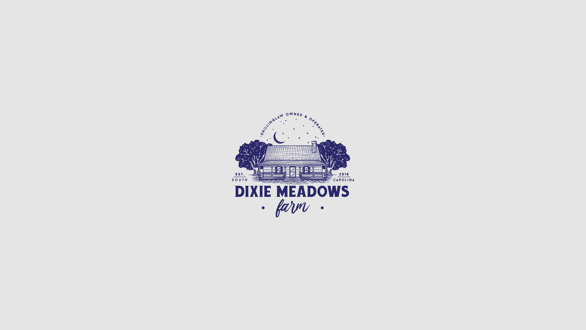 Create a classic branding logo for Dixie Meadows Farm