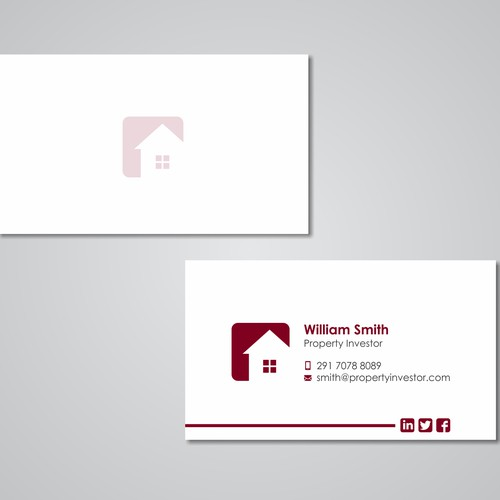 Business Card Design for Property Investor