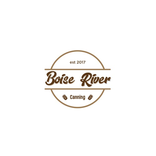 Create a unique logo for Boise River Canning