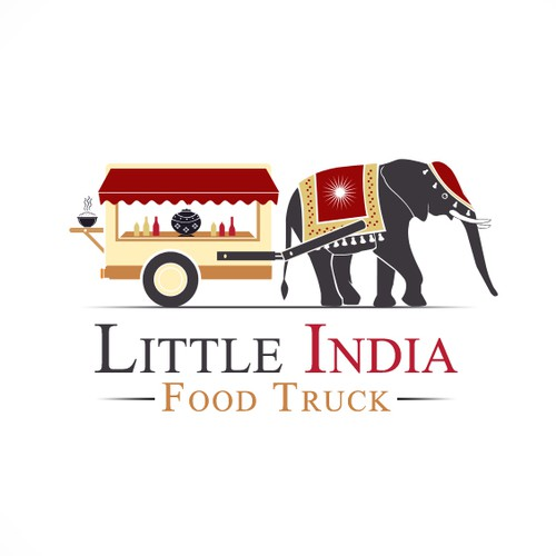 Create a winning logo for our Little India Food Truck