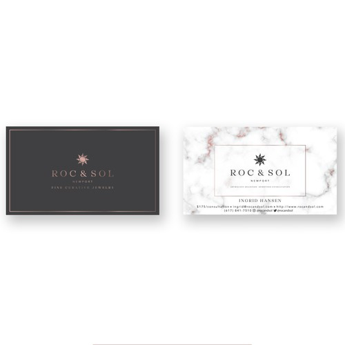 Logo and Business card for jewellery store