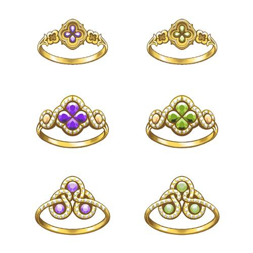 Jewellery rings design