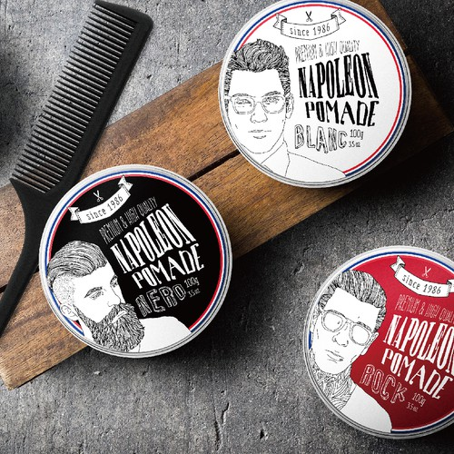 Men's Hair Style Pomade Packaging