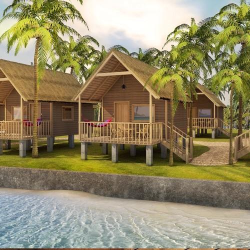 Tropical Resort Cabanas Interior & Exterior Design
