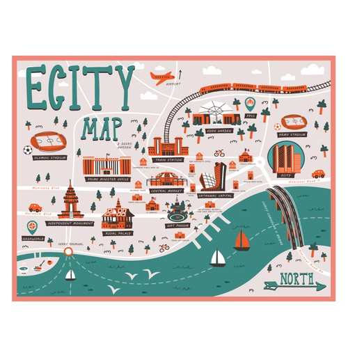 Quirky Phnom Penh Map