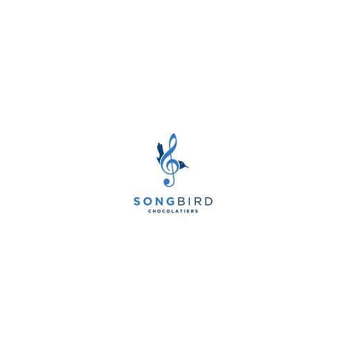 Logo for CBD truffles - Songbird Chocolatiers