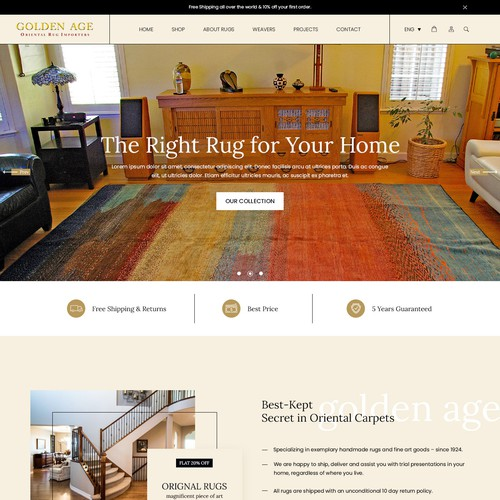 Turn rug browsers into rug buyers with a great looking landing page