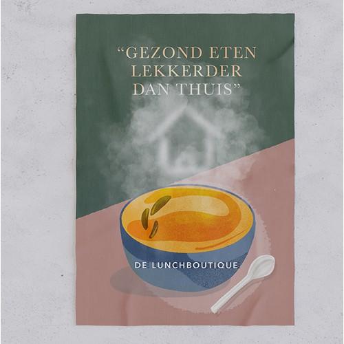 Flyer and menu design for a Belgian restaurant