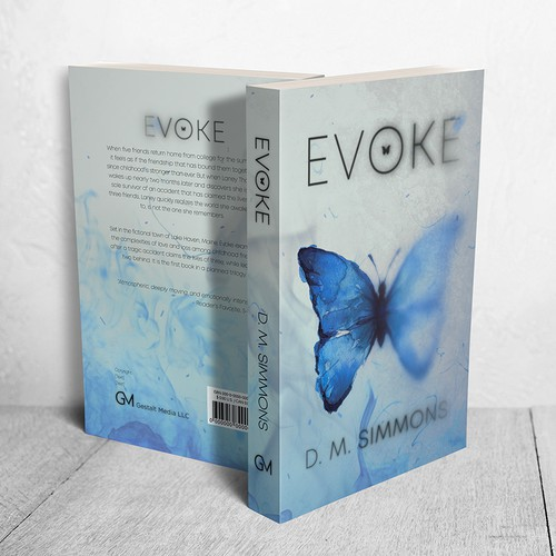 "Cover for ""Evoke""  by D. M. Simmons"