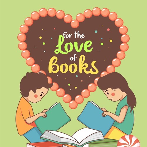 """Poster for book donation campaign - """"For the Love of Books"""""""