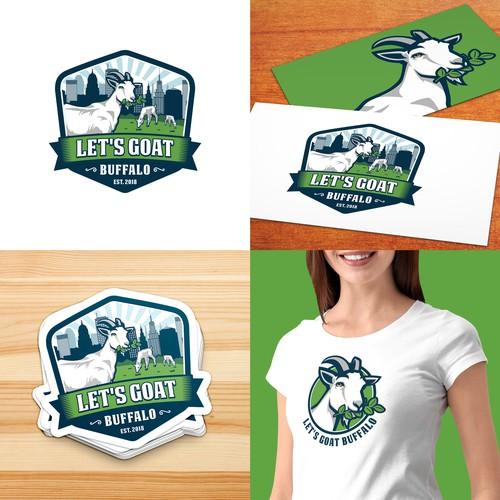 Let's Goat Buffalo Logo
