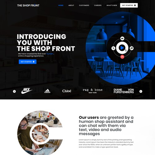 Peer to peer online shopping experience with video chat