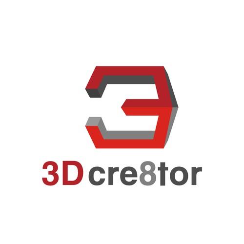 """3D"" In Shape of 3D Printer"