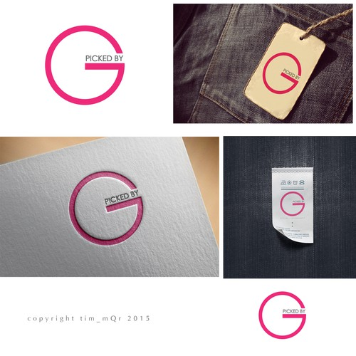 """Picked By: G"" logo design contest winner"