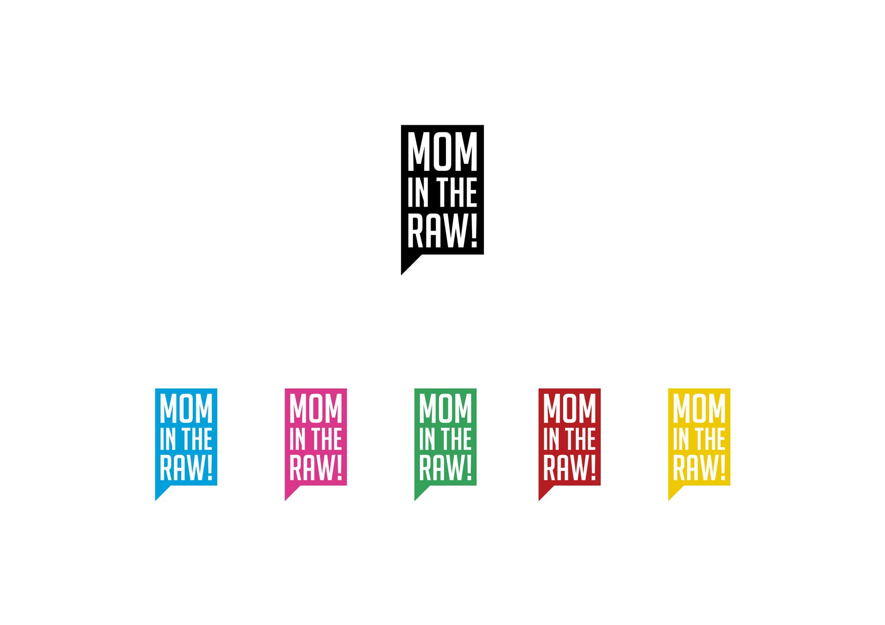 Badass Logo for Mom in the Raw!