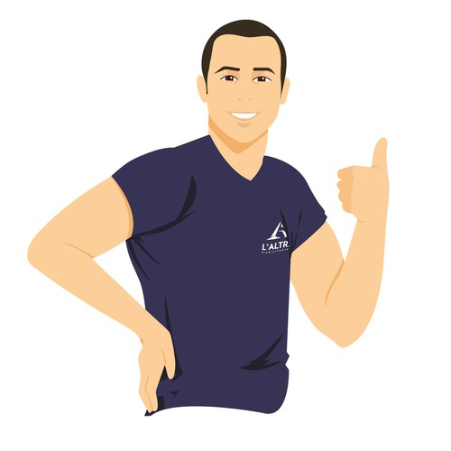 Logo Illustration for a Physiotherapist