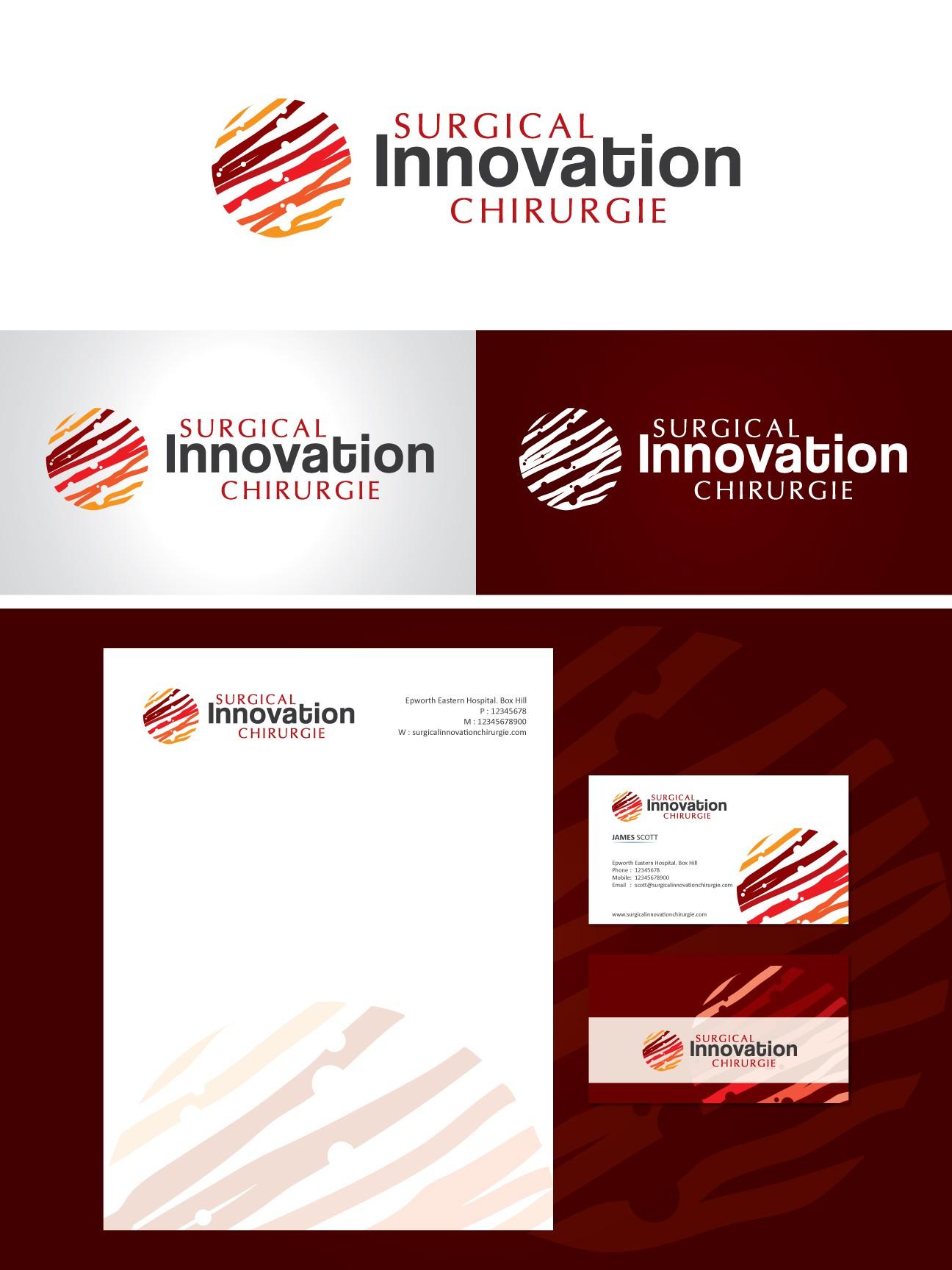 Bilingual logo for a new surgical innovation training program