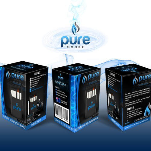 New product packaging wanted for Pure Smoke Electronic Cigarettes