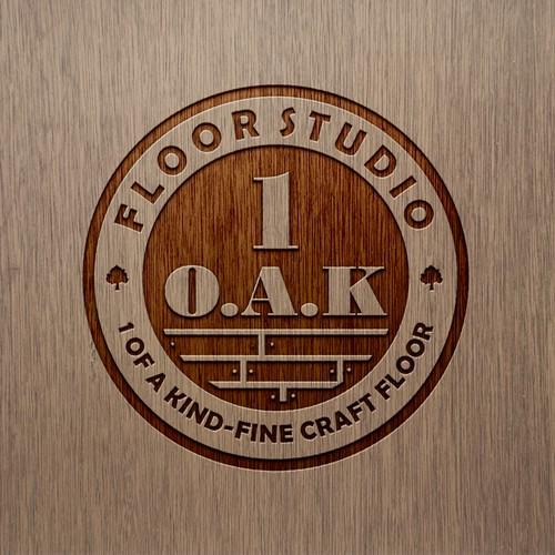 Logo for a Custom flooring shop! Old School elegance
