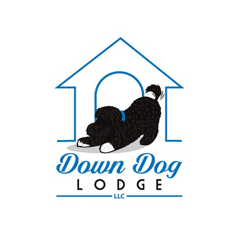 Bold logo for Down Dog Lodge