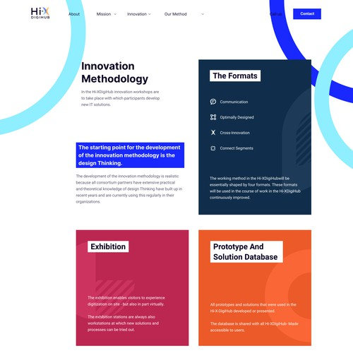 Innovation page for digihub